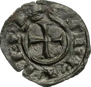reverse: Brindisi o Messina.  Corrado II (1254-1258). Denaro