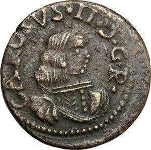 obverse: Cagliari.  Carlo II di Spagna (1665-1700). Cagliarese 1669