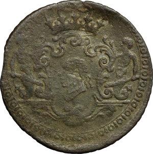 obverse: Corte.  Pasquale Paoli, Generale (1762-1768). 4 soldi 1764