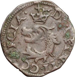 obverse: Desana.  Delfino Tizzone (1583-1598). Liard 1583