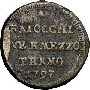 reverse: Fermo.  Pio VI (1775-1799). Sampietrino da 2 e 1/2 baiocchi 1797