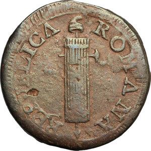 obverse: Fermo.  Repubblica Romana (1798-1799).. Due baiocchi 1798