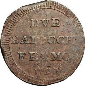 reverse: Fermo.  Repubblica Romana (1798-1799).. Due baiocchi 1798
