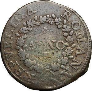 obverse: Fermo.  Repubblica Romana (1798-1799).. Due baiocchi A. I, 1798