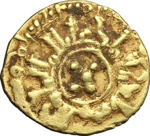 Messina.  Guglielmo II (1166-1189). Tarì con globetti disposti a croce