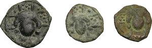 obverse: Salerno.  Monetazione protonormanna dell Italia Meridionale. Lotto di tre follis protonormanni