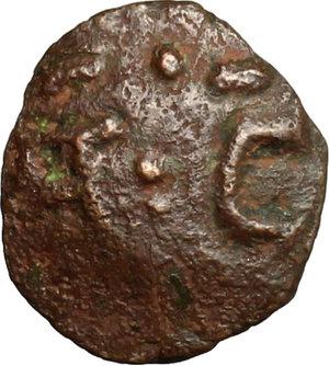 obverse: Salerno.  Tancredi (1189-1194).. Follaro con TA (legate) C  D