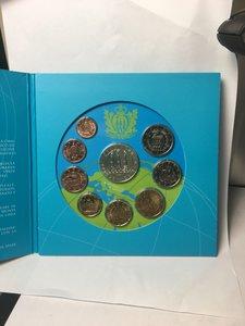 obverse: San Marino. Serie divisionale 2008. (5 euro argento, 2 e 1 euro, 50, 20, 10, 5, 2 e 1 cent)
