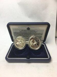 obverse: San Marino. Dittico 5 e 10 euro argento 2006. Campionato mondiale di calcio Germania 2006