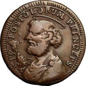 obverse: San Severino.  Pio VI (1775-1799).. Sampietrino da 2 e 1/2 baiocchi 1796