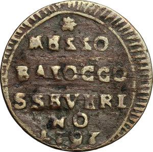 reverse: San Severino.  Pio VI (1775-1799).. Mezzo baiocco A. XXIII, 1797