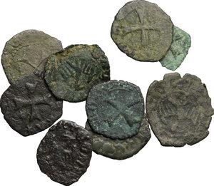 obverse: Savona.  Repubblica (1350-1396). Residuo di collezione comprendente 9 nominali in mistura