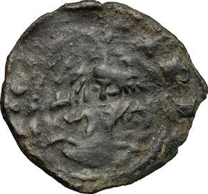 obverse: Sciacca.  Federico IV il Semplice (1355-1377).. Denaro