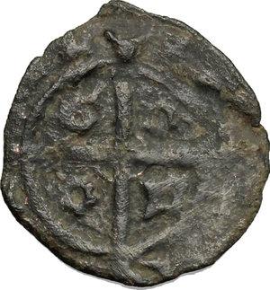 reverse: Sciacca.  Federico IV il Semplice (1355-1377).. Denaro