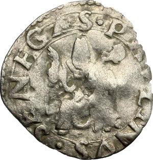 obverse: Senigallia.  Francesco Maria I della Rovere (1508-1538). Mezzo bolognino o soldino