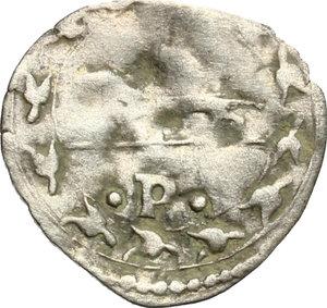 reverse: Senigallia.  Francesco Maria I della Rovere (1508-1538). Mezzo bolognino o soldino