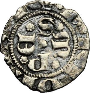 obverse: Sulmona.  Carlo III di Durazzo (1382-1385). Bolognino