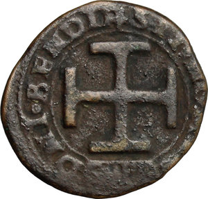 reverse: Sulmona.  Federico III d Aragona (1496-1501). Sestino