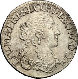 obverse: Tassarolo.  Livia Centurioni Oltremarini (1616,1688), moglie di Filippo Spinola. Luigino 1666