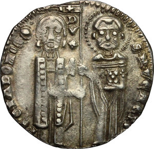 obverse: Venezia.  Pietro Gradenigo (1289-1311).. Gosso matapan