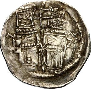 obverse: Venezia.  Stefan Uroš IV Dušan (1345-1355).. Denaro ad imitazione del grosso matapan, Serbia