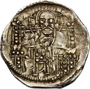 reverse: Venezia.  Stefan Uroš IV Dušan (1345-1355).. Denaro ad imitazione del grosso matapan, Serbia