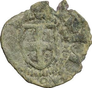 obverse: Amedeo V (1285-1323).. Denaro piccolo nero