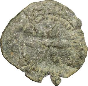 reverse: Amedeo V (1285-1323).. Denaro piccolo nero