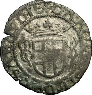 obverse: Carlo II (1504-1553).. Grosso III tipo, 1553
