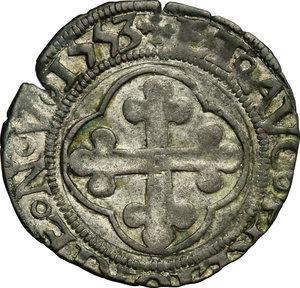 reverse: Carlo II (1504-1553).. Grosso III tipo, 1553