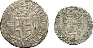 obverse: Emanuele Filiberto Duca (1559-1580). Lotto di due monete: 4 grossi  1556 e soldo 1564
