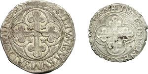 reverse: Emanuele Filiberto Duca (1559-1580). Lotto di due monete: 4 grossi  1556 e soldo 1564