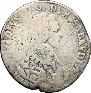 obverse: Vittorio Amedeo I (1630-1637). Ducatone 1632