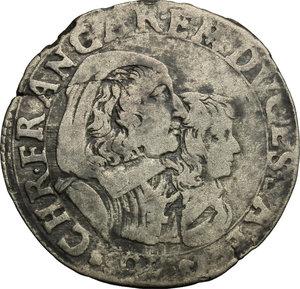 reverse: Carlo Emanuele II sotto la reggenza della madre (1639-1648). 5 soldi 1648