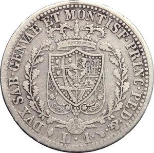 reverse: Carlo Felice (1821-1831). Lira 1826 Torino