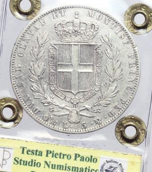 reverse: Carlo Alberto (1831-1849). 5 lire 1843 Genova