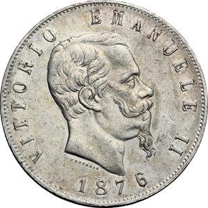 obverse: Vittorio Emanuele II  (1861-1878).. 5 lire 1876 Roma