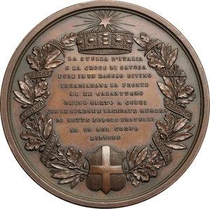 reverse: Vittorio Emanuele II  (1861-1878).. Medaglia per la morte, 1878