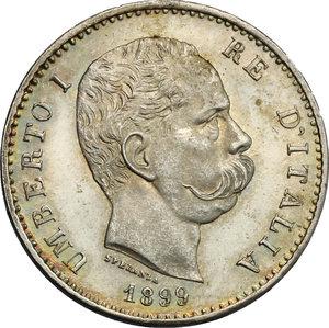 obverse: Umberto I (1878-1900). Lira 1899