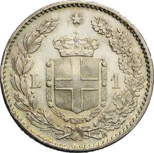 reverse: Umberto I (1878-1900). Lira 1899