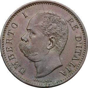 obverse: Umberto I (1878-1900).. 5 centesimi 1895 Roma