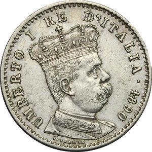 obverse: Umberto I (1878-1900).. Lira 1890 Roma