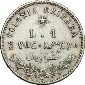 reverse: Umberto I (1878-1900).. Lira 1890 Roma