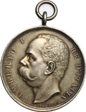 obverse: Umberto I (1878-1900).. Medaglia Esercito Italiano Gara di tiro fra ufficiali