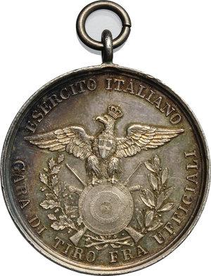 reverse: Umberto I (1878-1900).. Medaglia Esercito Italiano Gara di tiro fra ufficiali