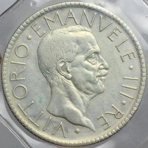 obverse: Vittorio Emanuele III (1900-1943). 20 lire 1927 A.VI