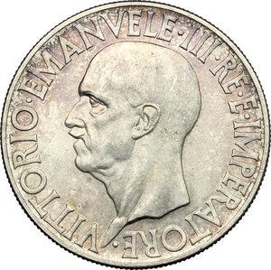 obverse: Vittorio Emanuele III (1900-1943). 20 Lire 1936 Roma