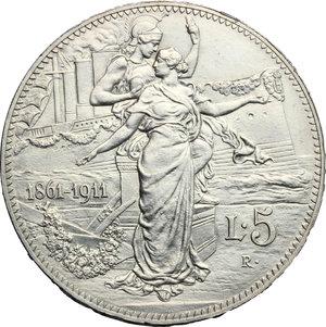 reverse: Vittorio Emanuele III (1900-1943). 5 lire 1911