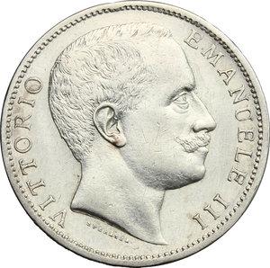 obverse: Vittorio Emanuele III (1900-1943). 2 lire 1905