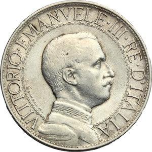 obverse: Vittorio Emanuele III (1900-1943). 2 lire 1910